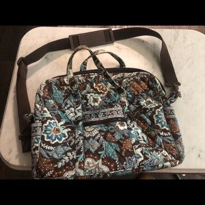 Vera Bradley laptop bag with matching wallet